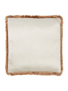 Gingerlily Lux fringe cushion ivory
