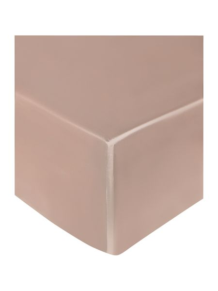 Gingerlily Nude silk king fitted sheet