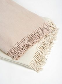 Gingerlily Nude silk throw