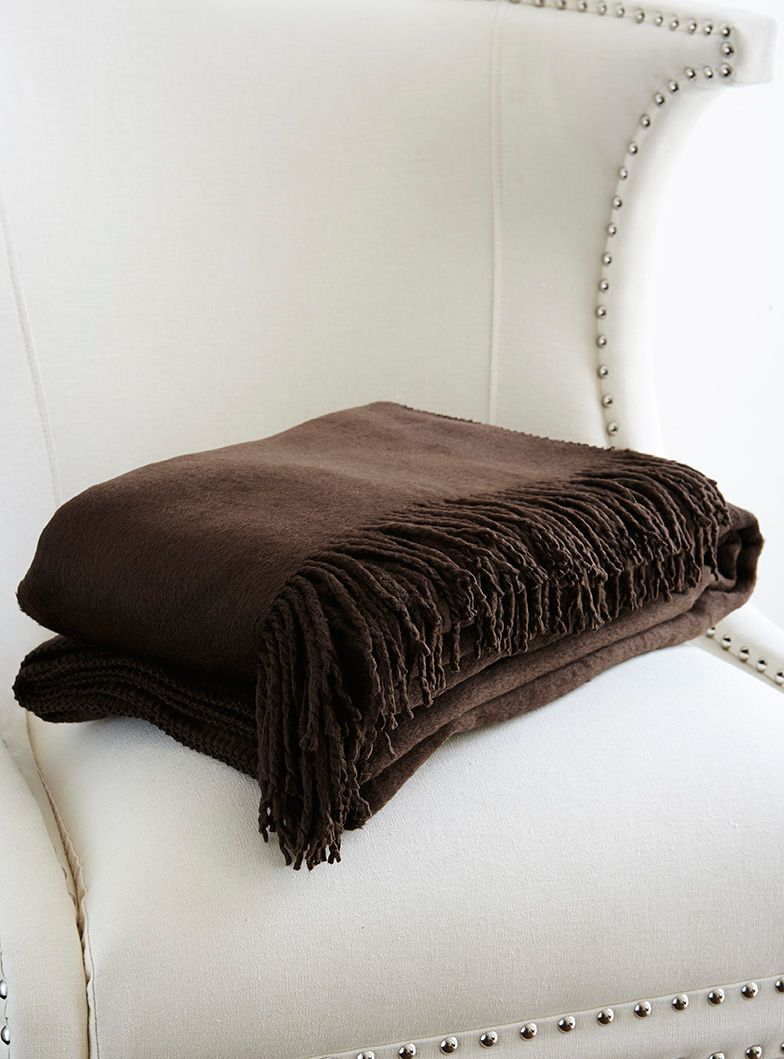 Chocolate silk throw