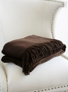 Gingerlily Chocolate silk throw