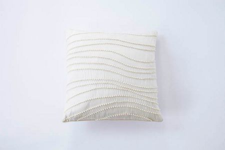 Gingerlily Silk pearls cushion ivory 30x30cm