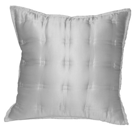 Gingerlily Windsor silk cushion 40x40cm ivory
