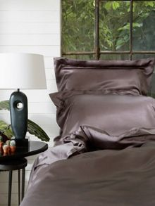 Cocoa silk standard pillowcase
