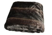 Faux Fur Throw, Brown