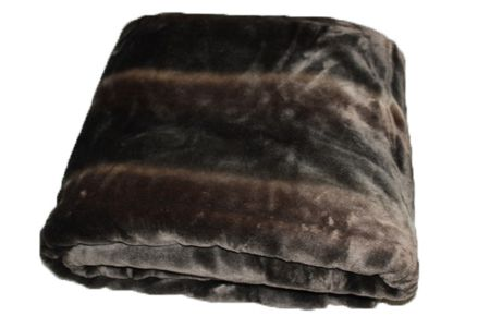 Gingerlily Faux Fur Throw, Brown