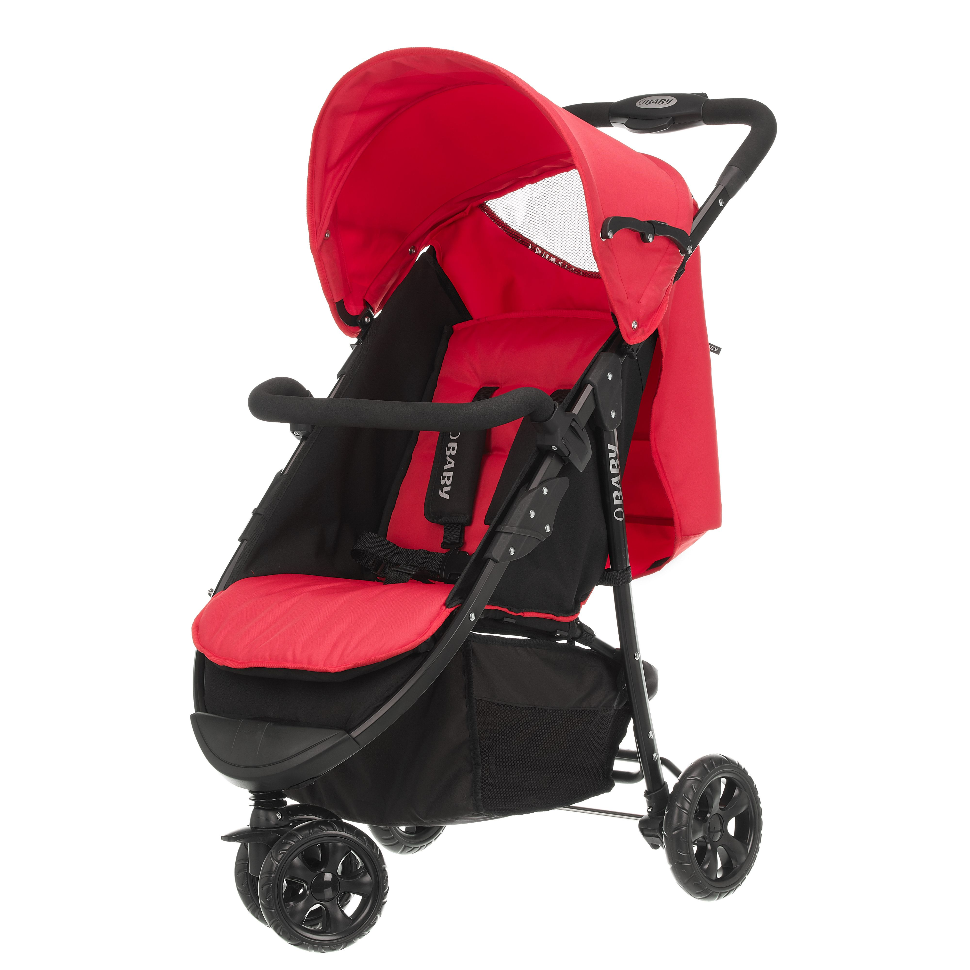 OBABY Tour 3 wheeler - black/red