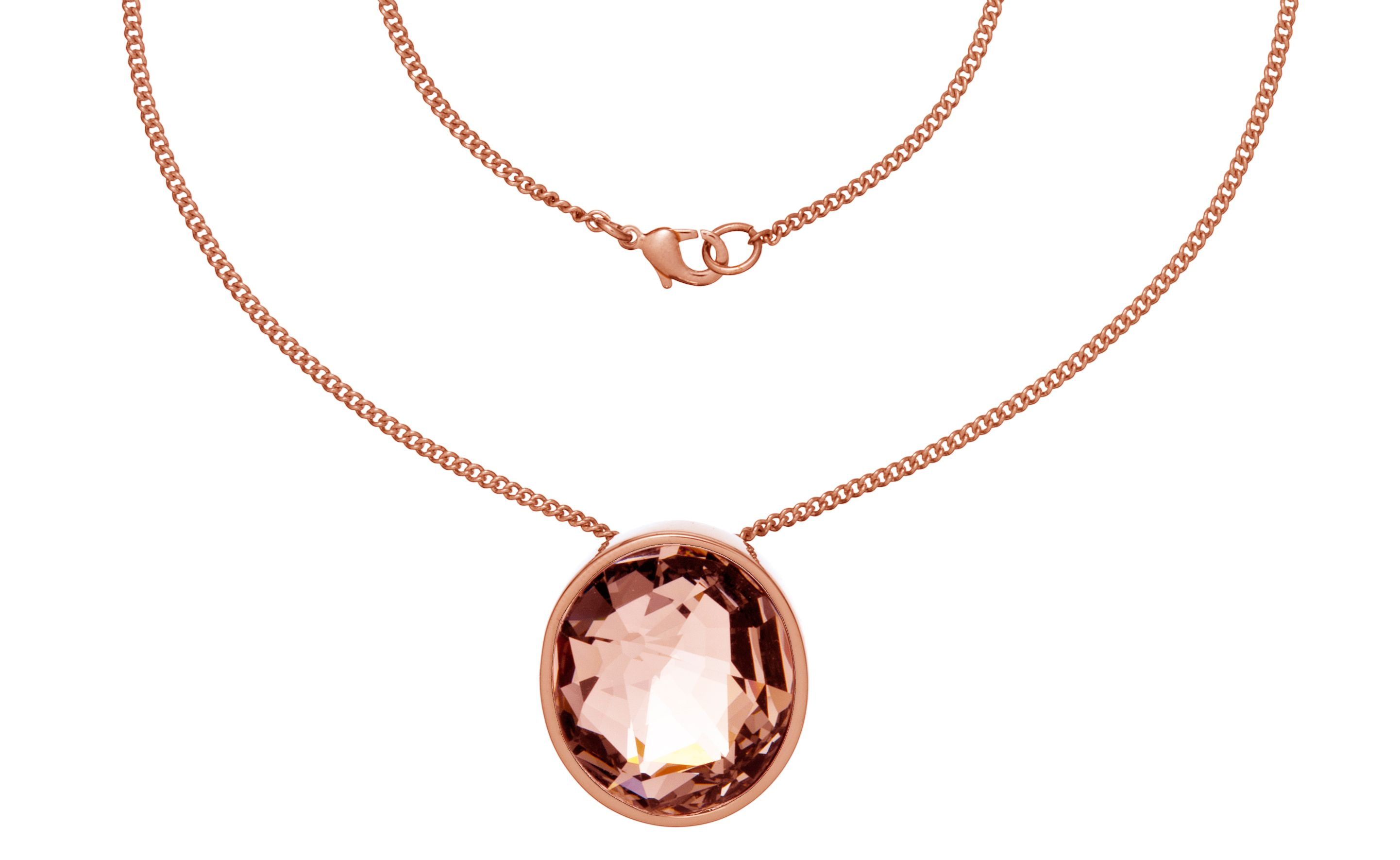 Aurora Swarovski 18ct Rose Gold Plated Pendant