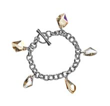 Aurora 18ct White Gold Plated Bracelet