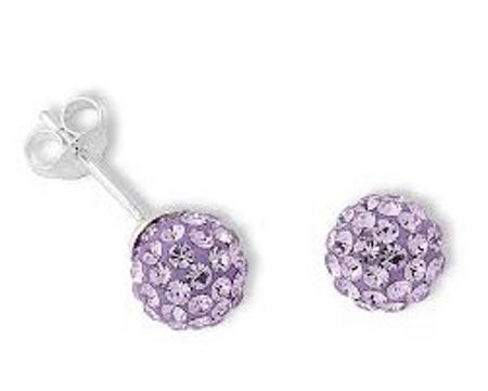 Aurora Flash 8mm sterling silver crystal ball stud earrings