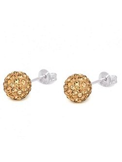 8mm sterling silver crystal ball stud earrings