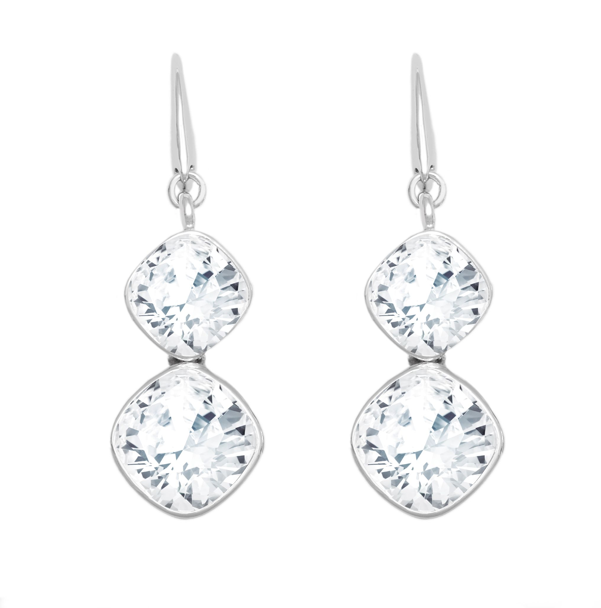 18ct White Gold Plated Earrings