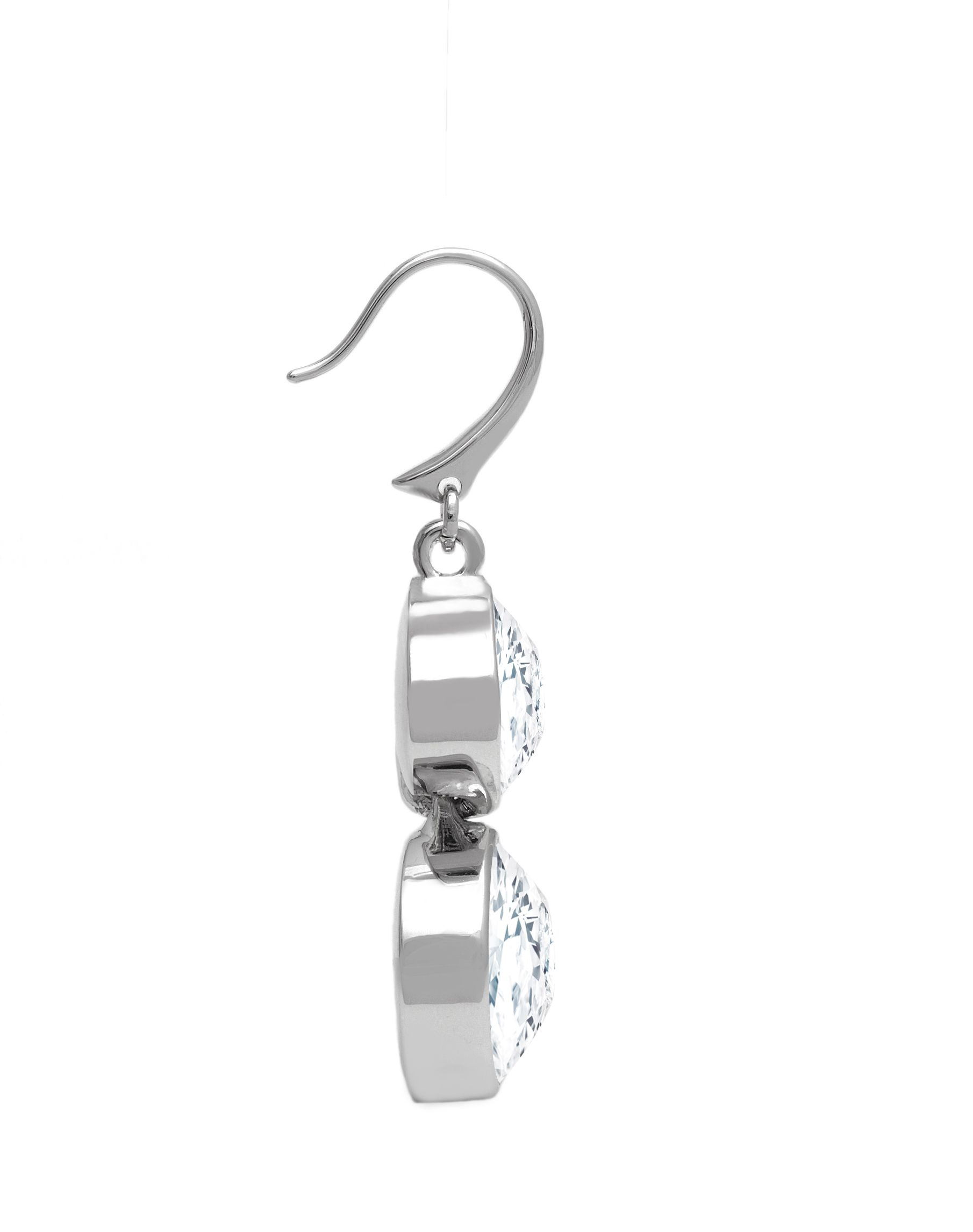 Swarovski 18ct White Gold Plated Earrings