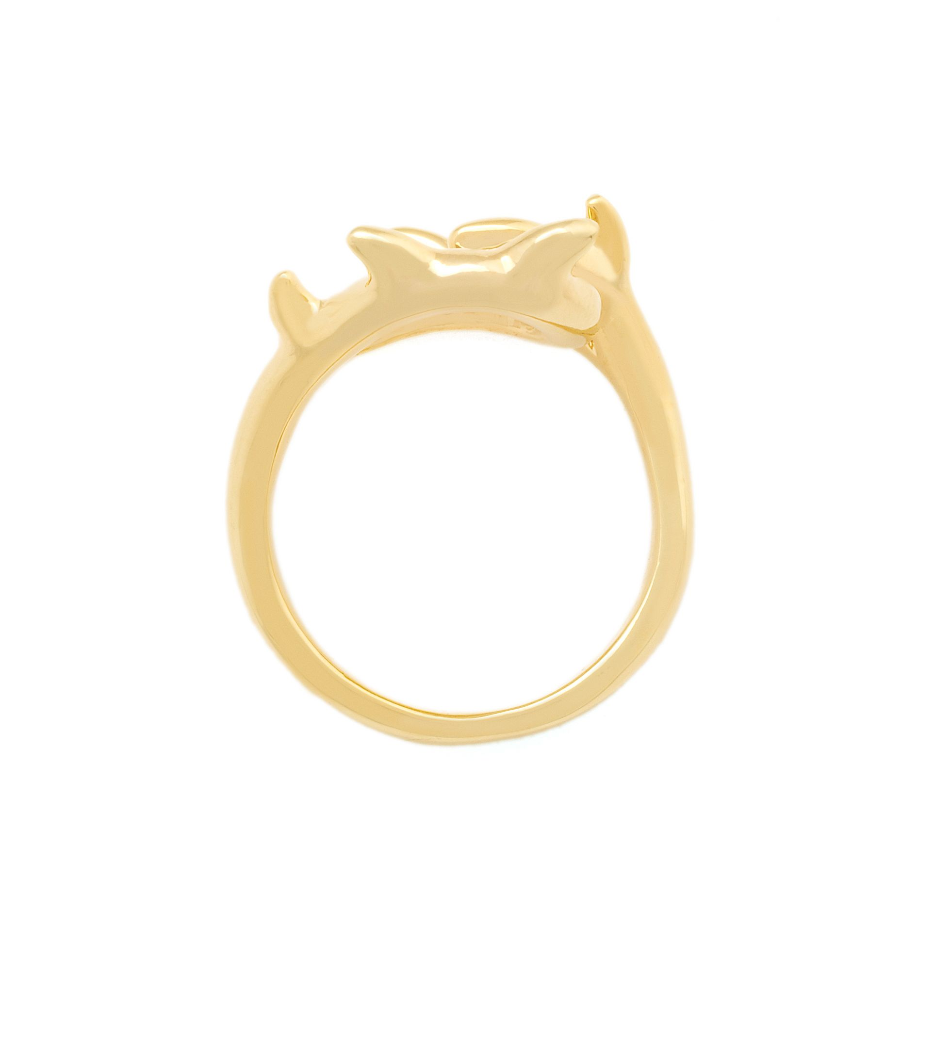 Yellow gold thorn ring