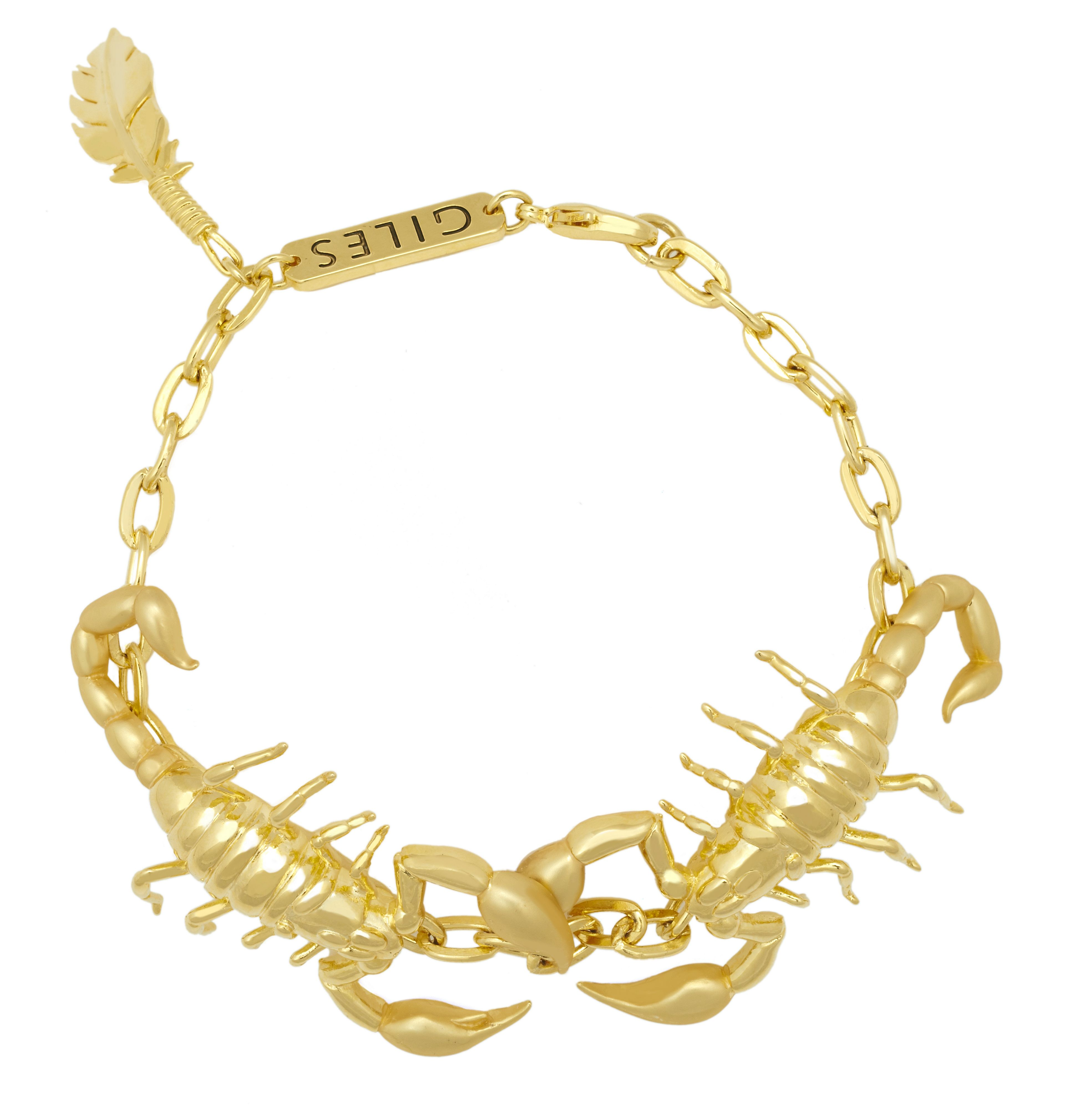 Yellow gold scorpion bracelet