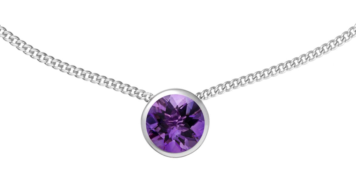 18ct Gold Plated Amethyst Pendant