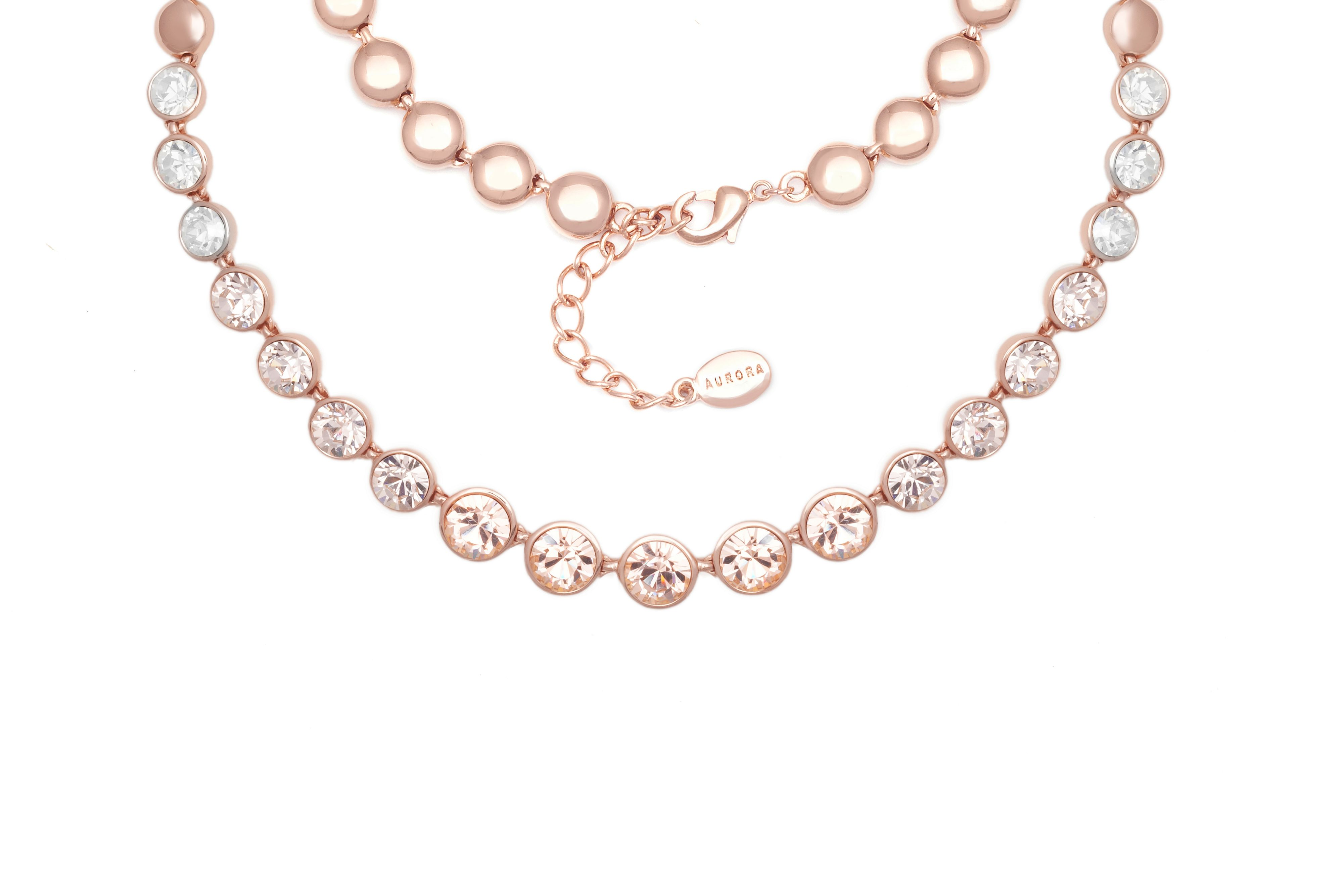 Aurora 18ct Rose Gold Plated Necklace