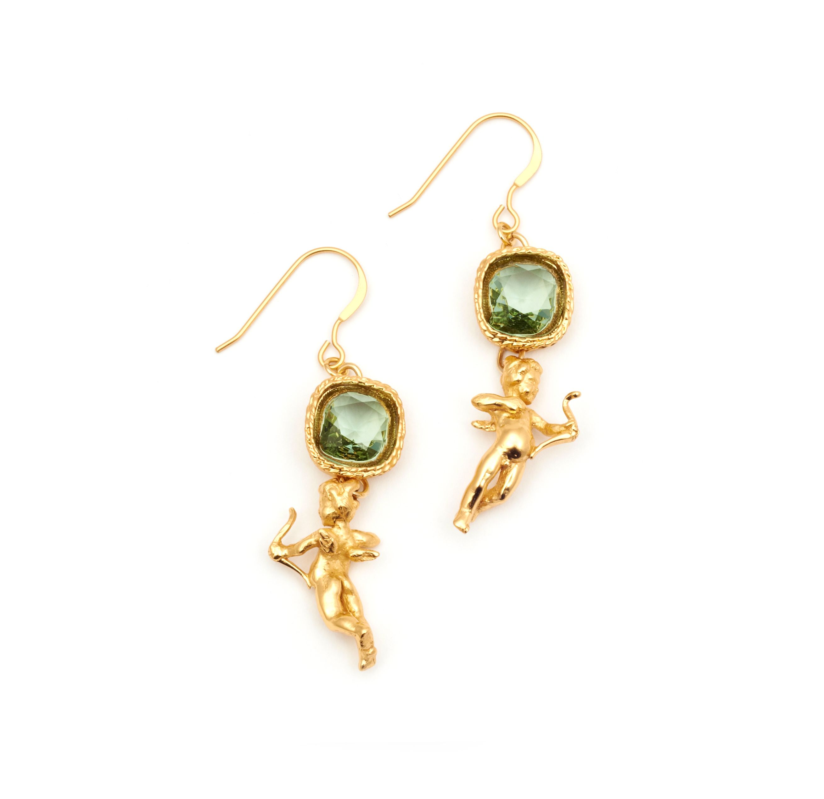 Gold Plated Cherub Crystal Earring