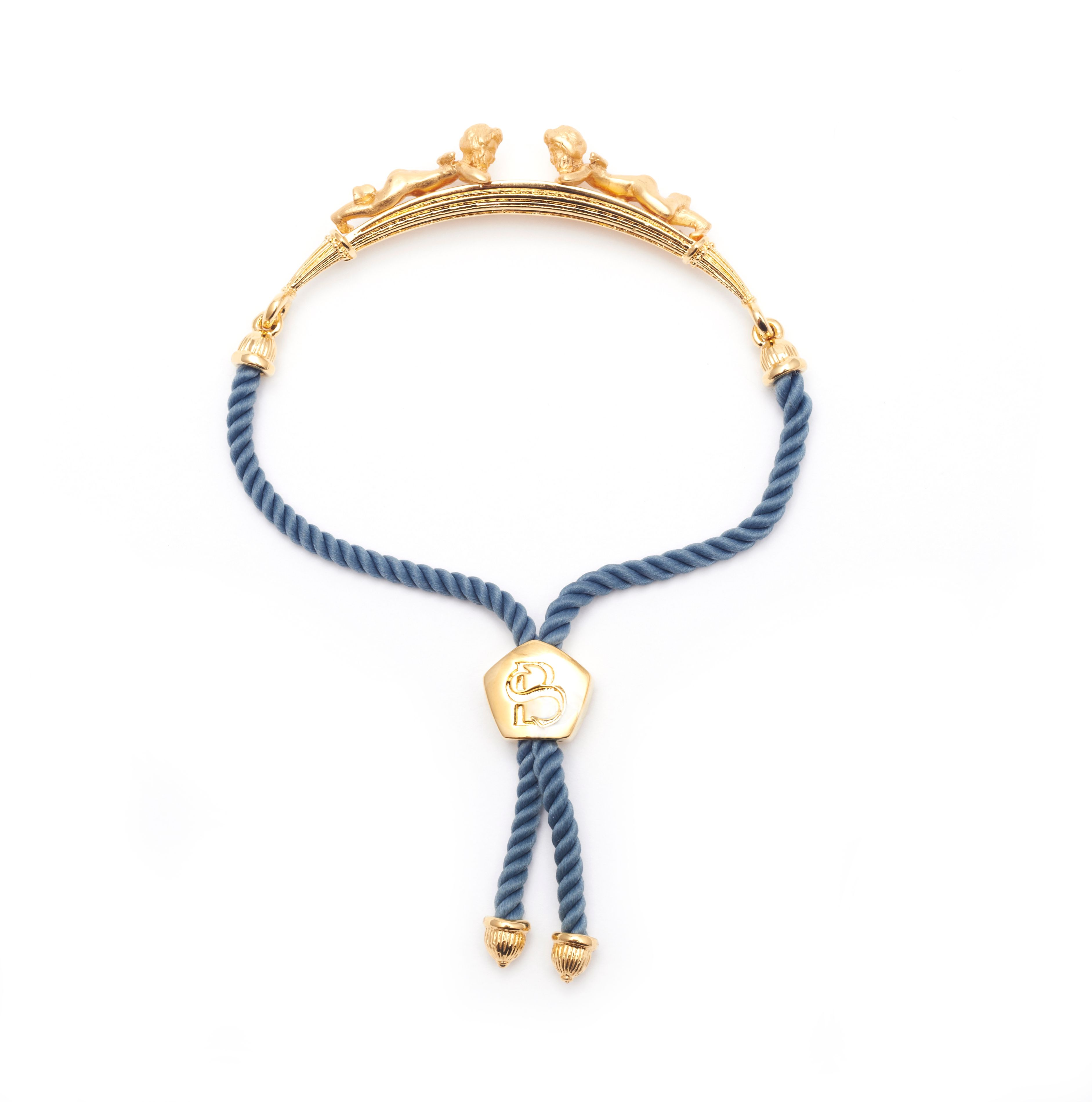 Gold Plated Cherub Friendship Bracelet