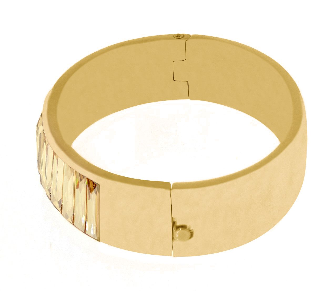 Swarovski 18ct Yellow Gold Hinge Bangle