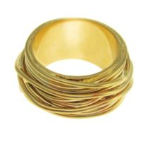 Aurora Flash Gold plated wire ring
