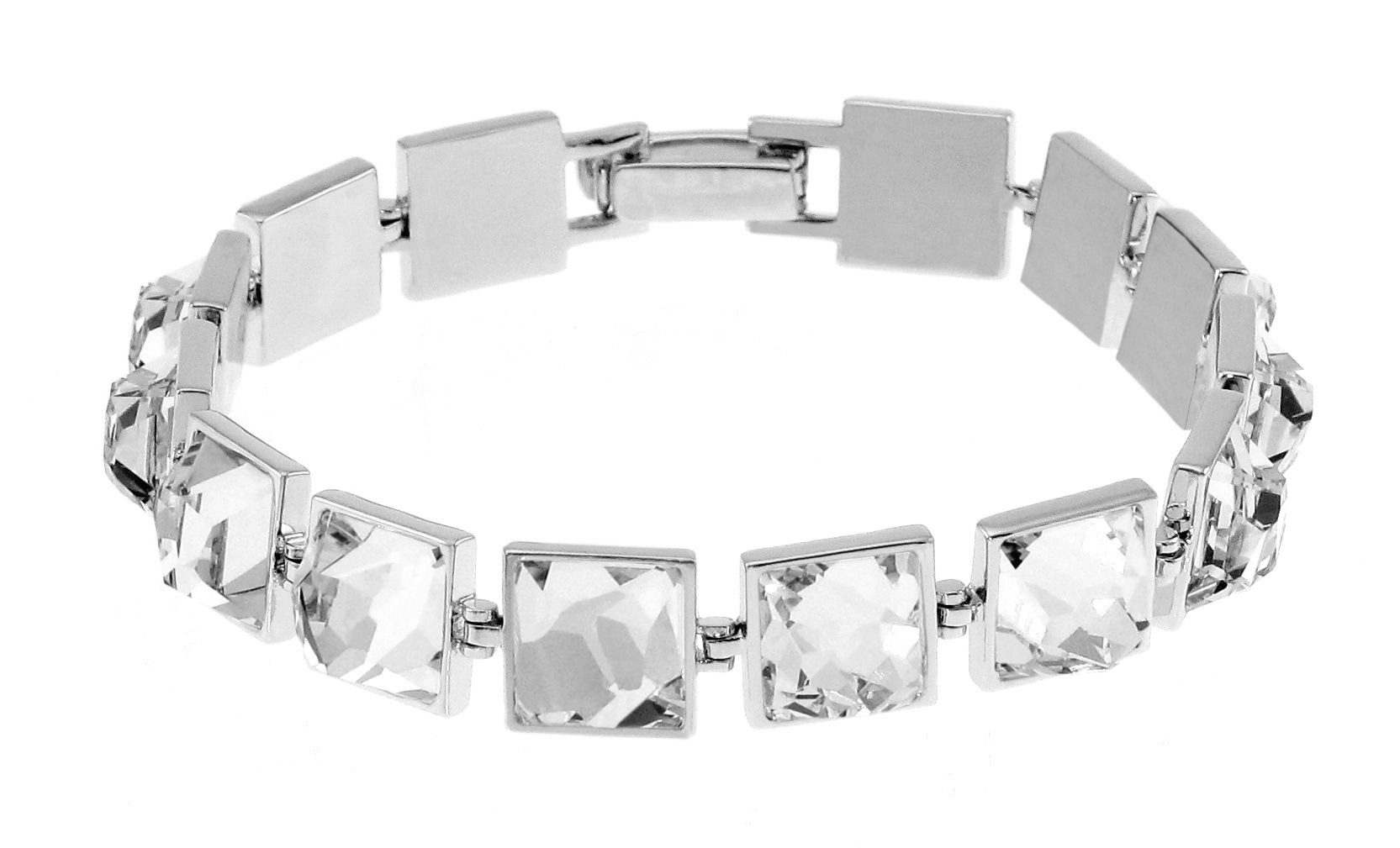 Swarovski 18Ct White Gold Square Tennis Bracelet