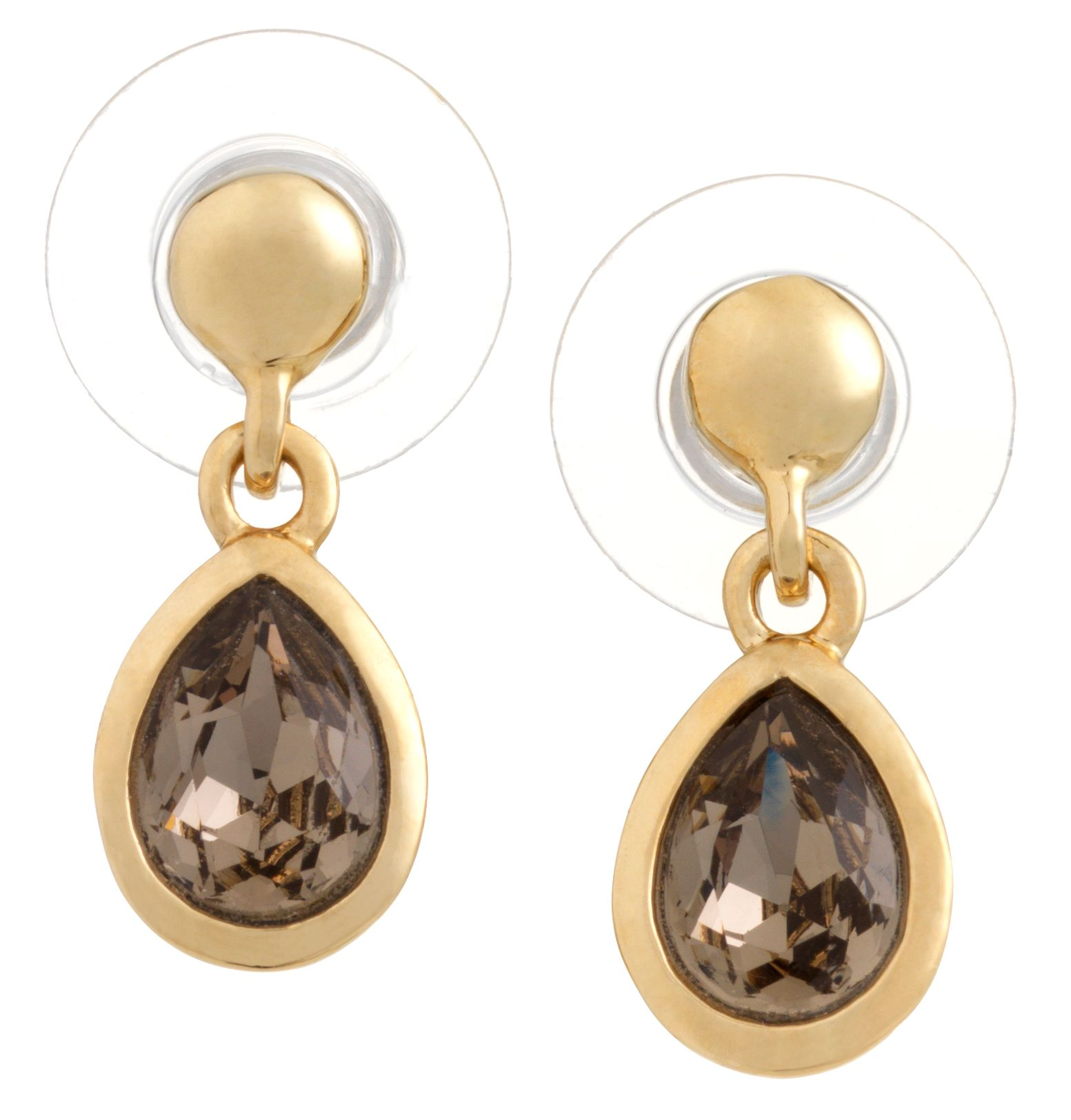 Swarovski 18Ct Yellow Gold Greige Earrings