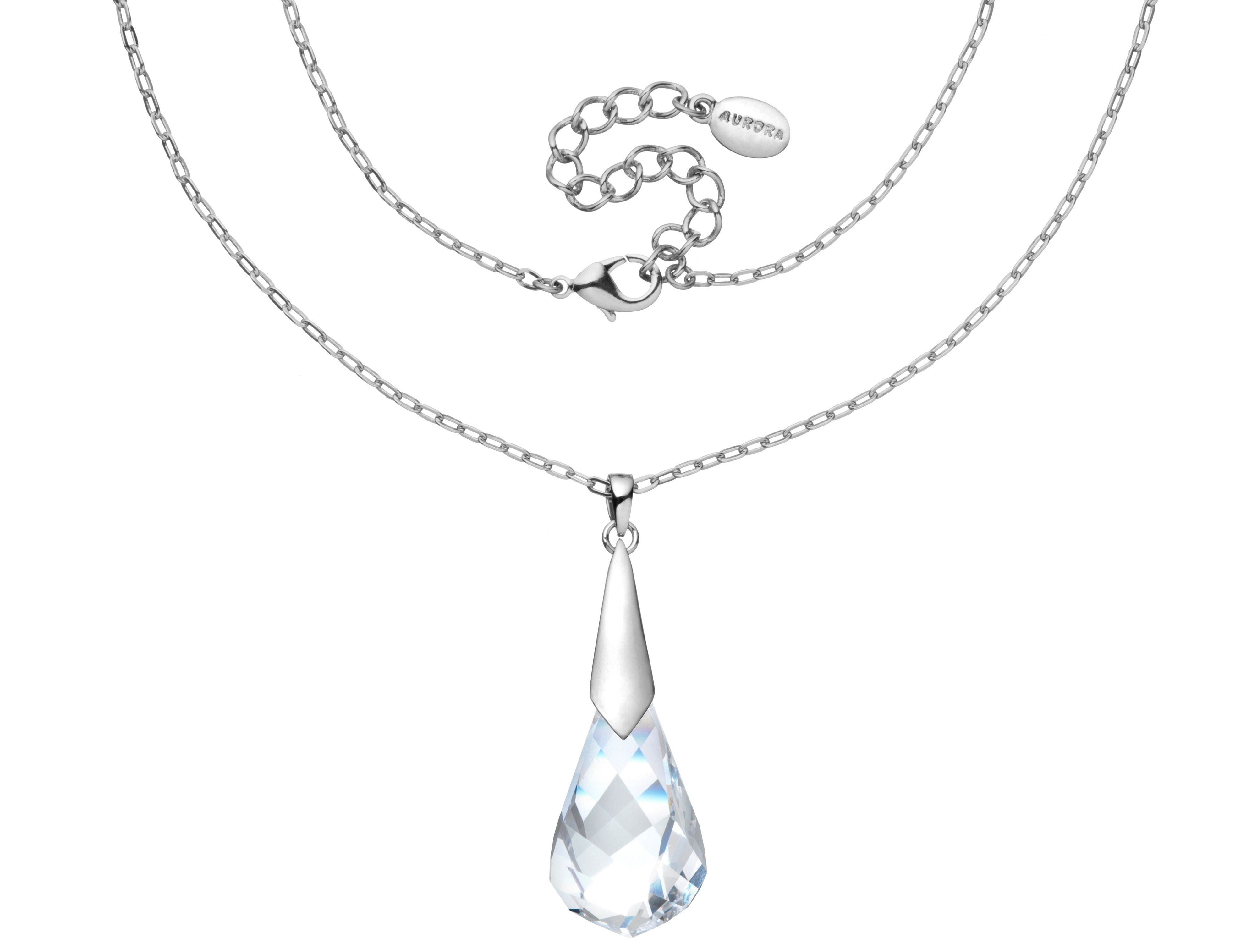 Swarovski 18Ct White Gold Twisted Crystal Pendant