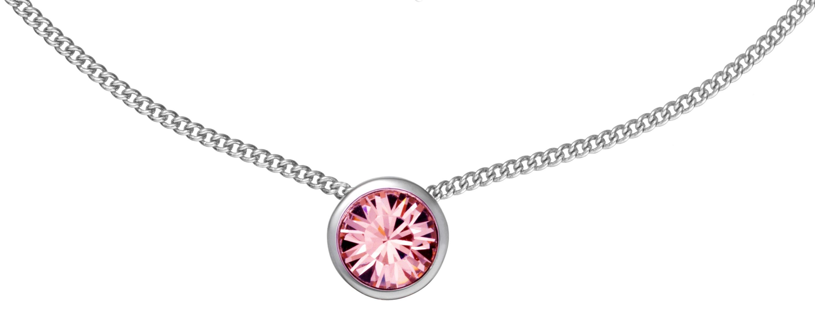 Swarovski 18Ct White Gold Light Pink Pendant