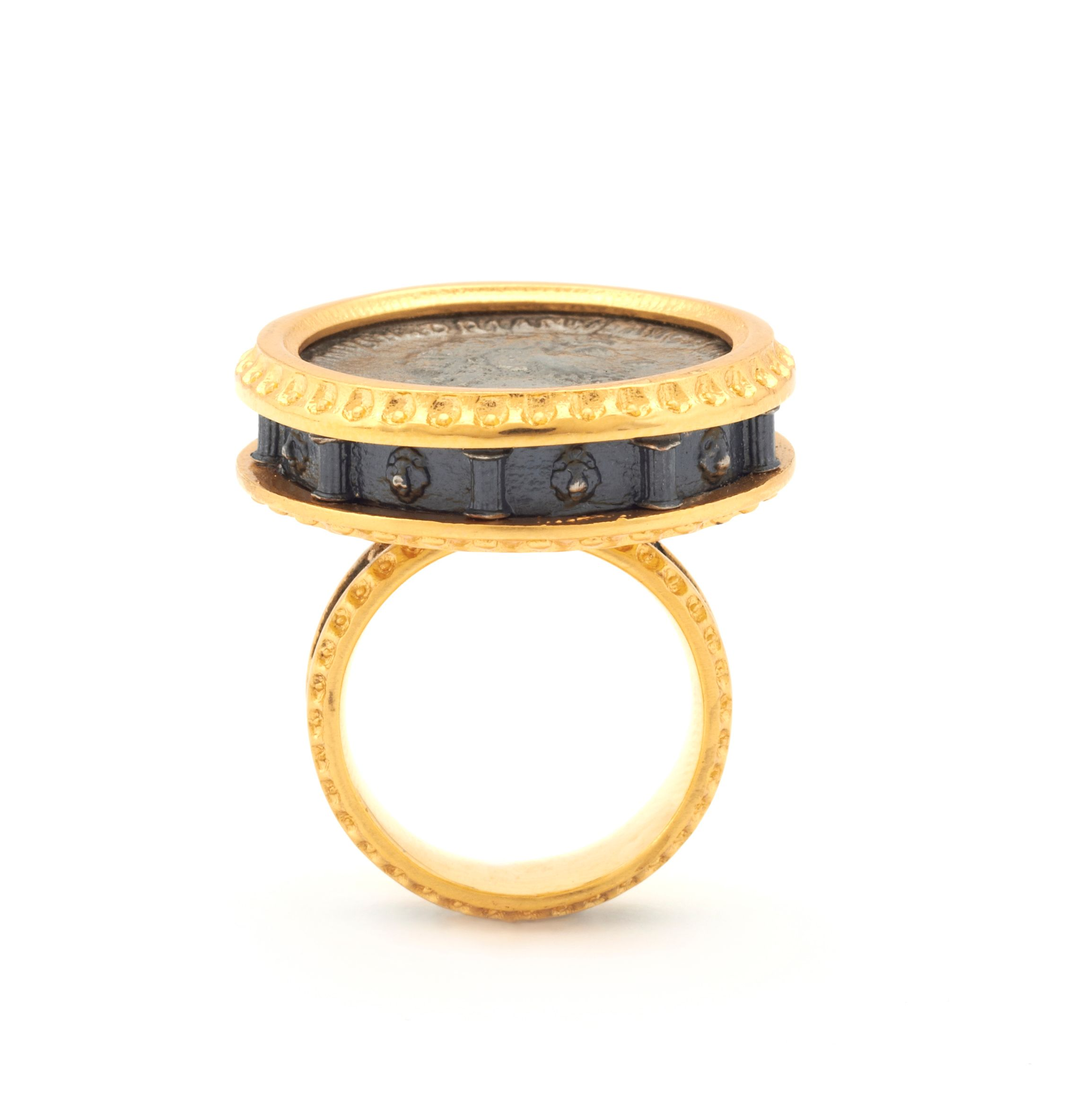 Emperor coin statement ring