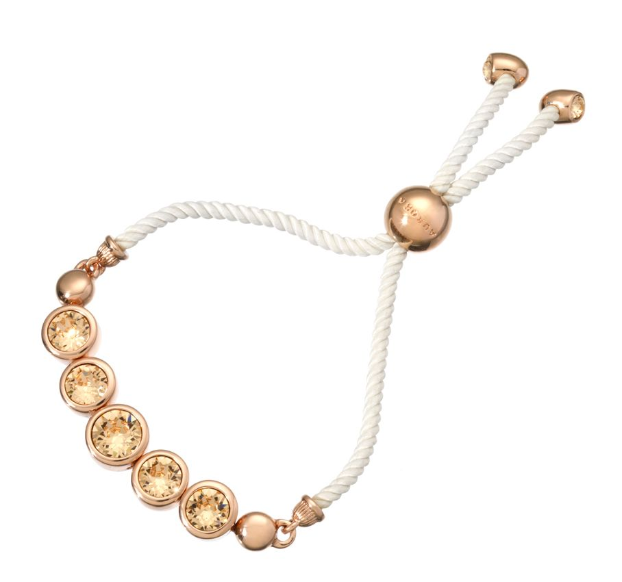 18ct rose gold plated friendship bracelet
