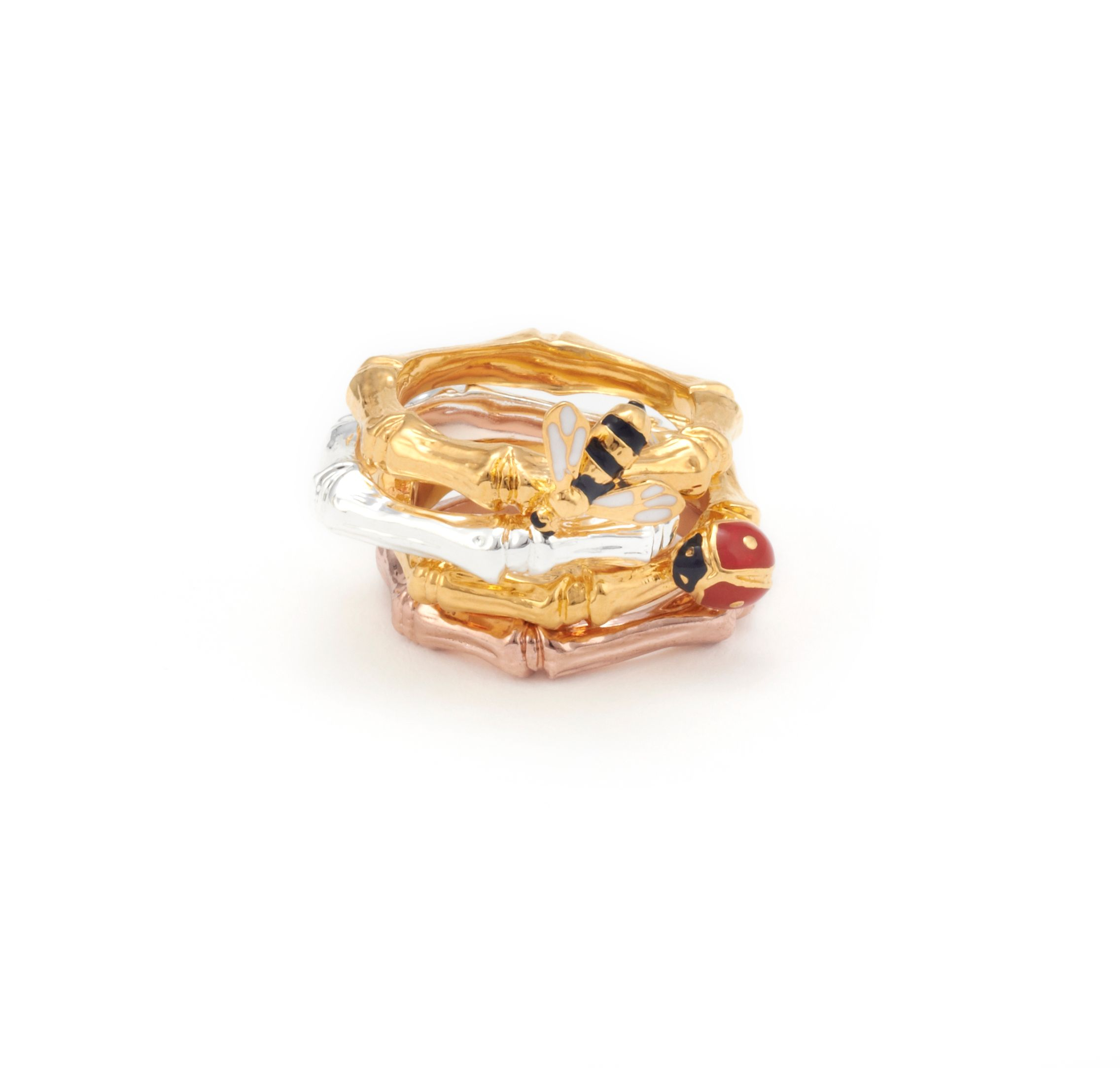Floral bamboo stack ring