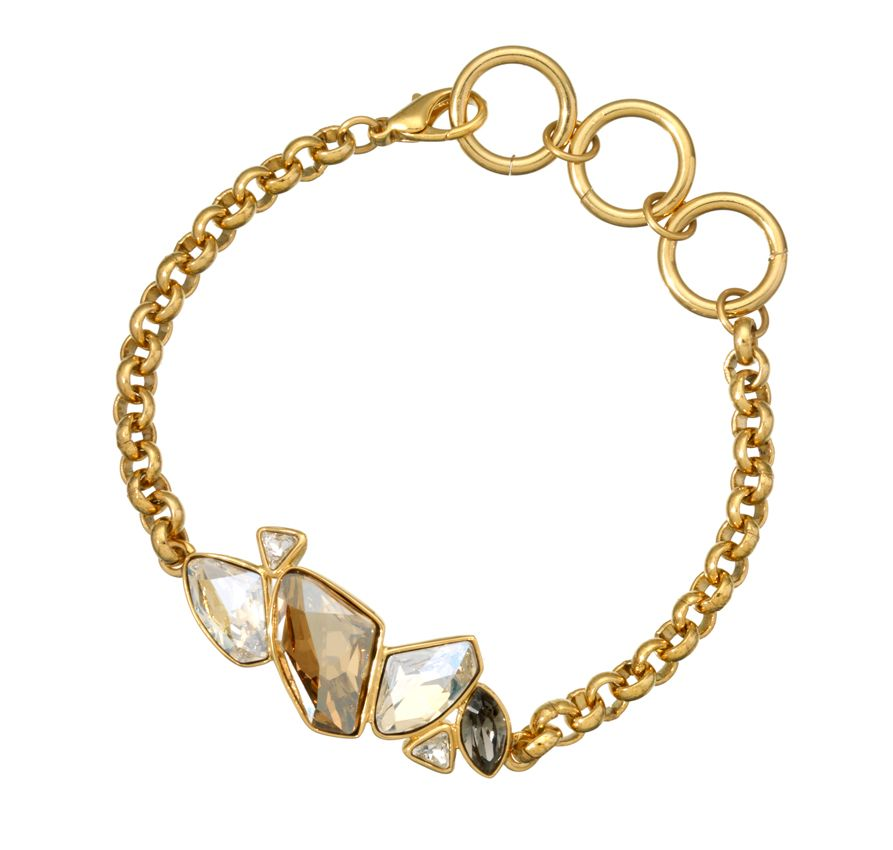 18ct gold plated multi fancy cut bracelet