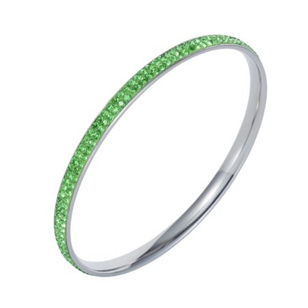 Aurora Flash Stainless steel cubic zirconia green bangle