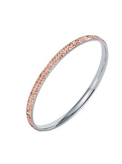 Stainless steel cubic zirconia champagne bangle