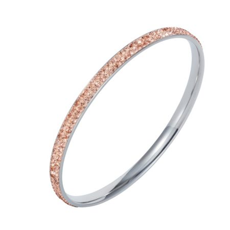 Aurora Flash Stainless steel cubic zirconia champagne bangle