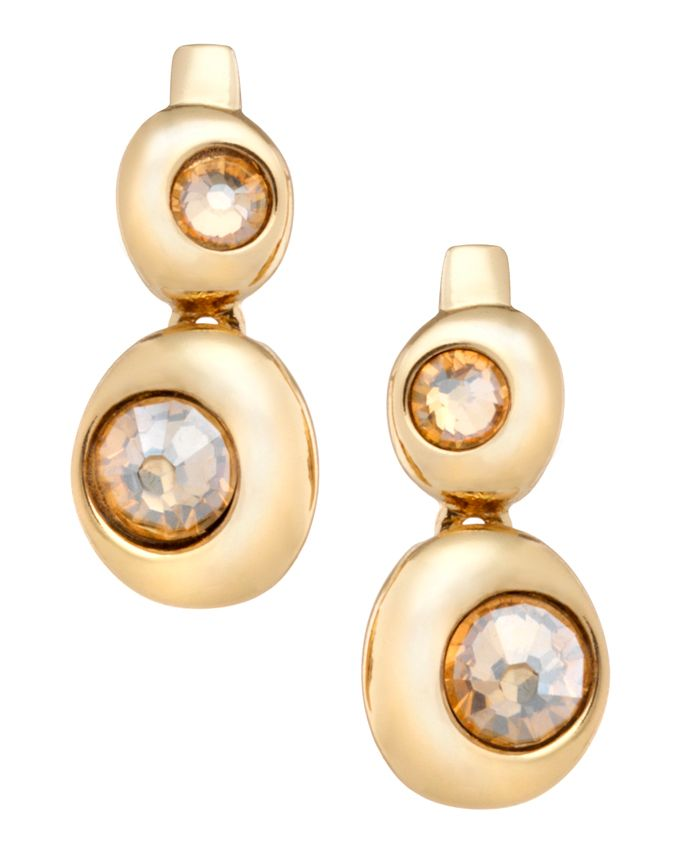 18ct gold plated double moon earring
