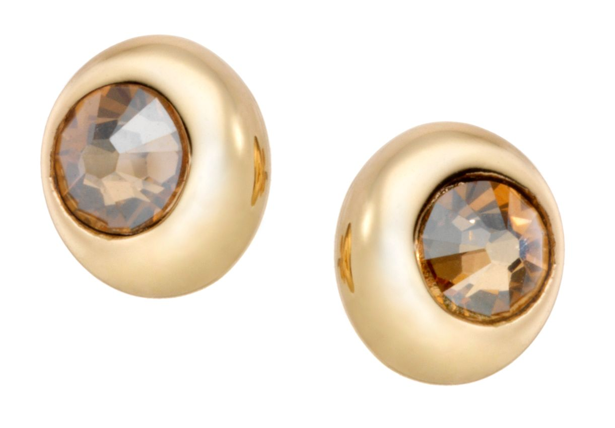 18ct gold plated moon studs