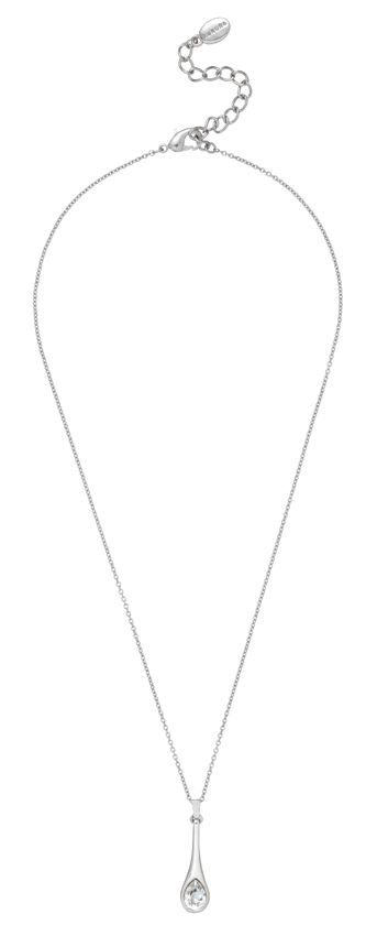 18ct white gold plated spoon pendant