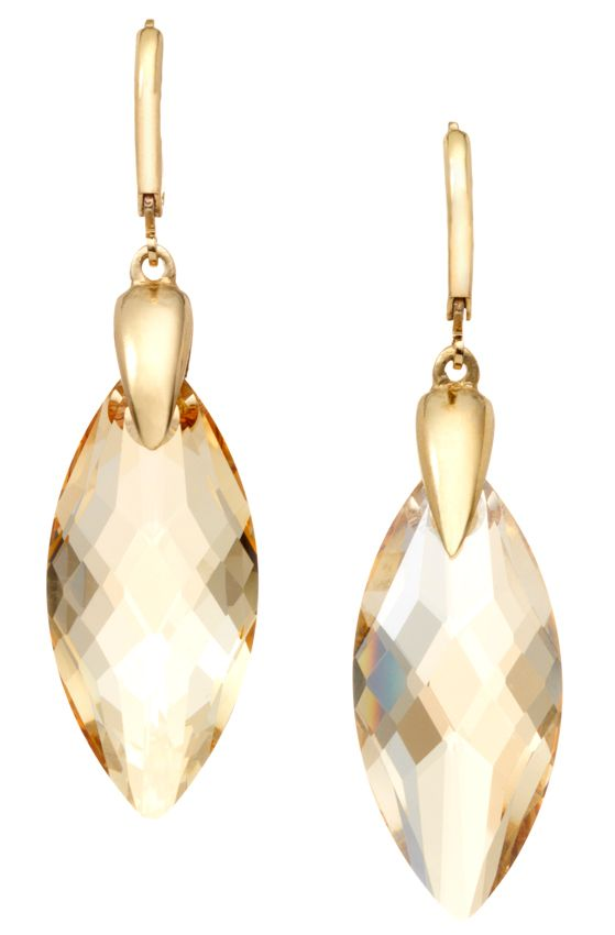 18ct gold plated briolette earrings