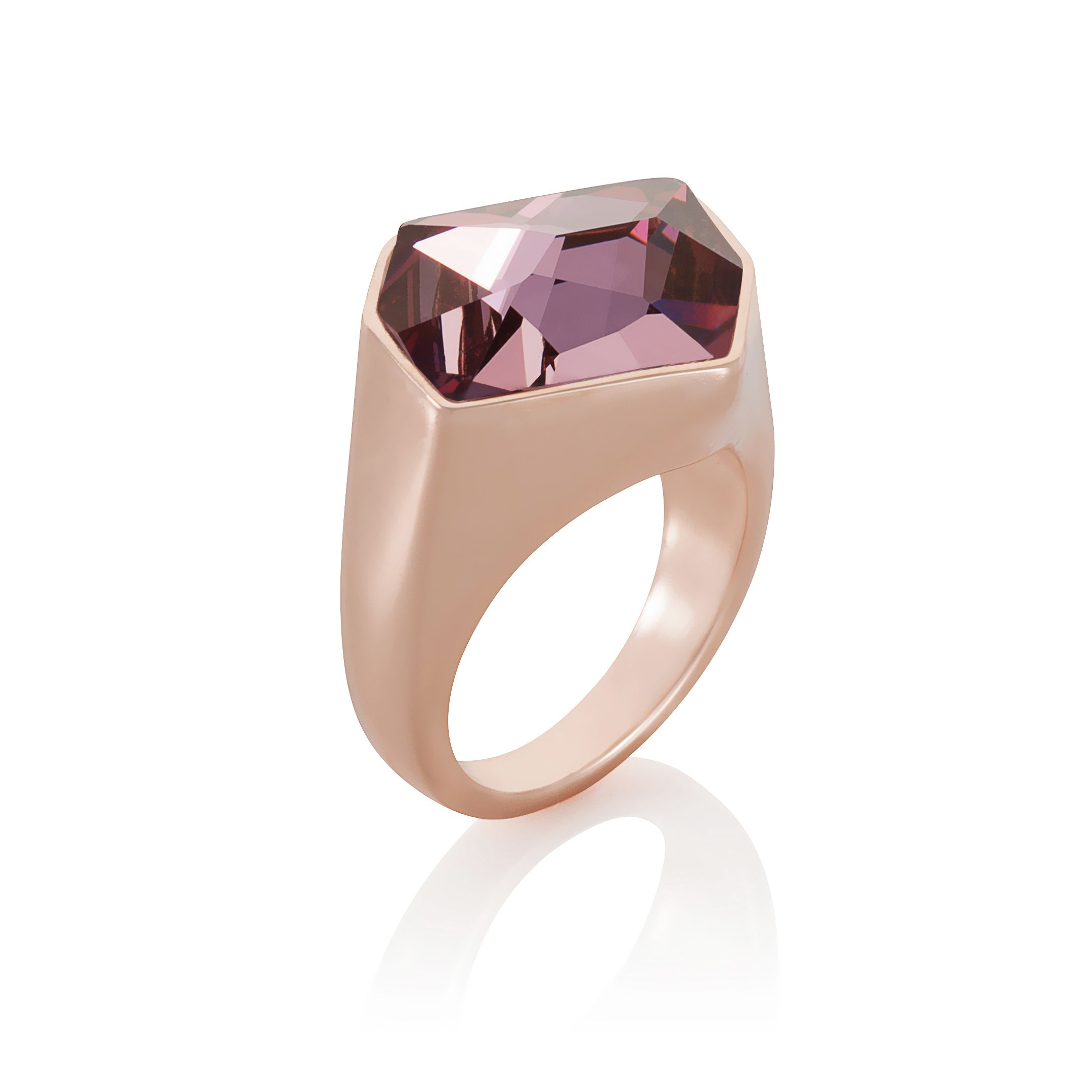 18ct rose gold plated cosmic cut ring