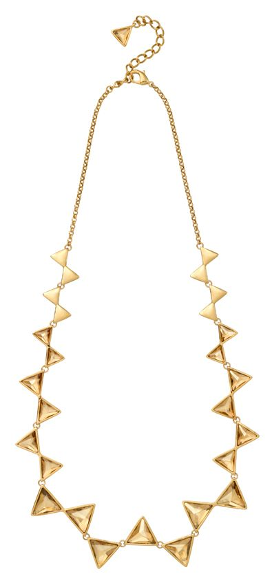 18ct Gold Plated Triangle Necklace