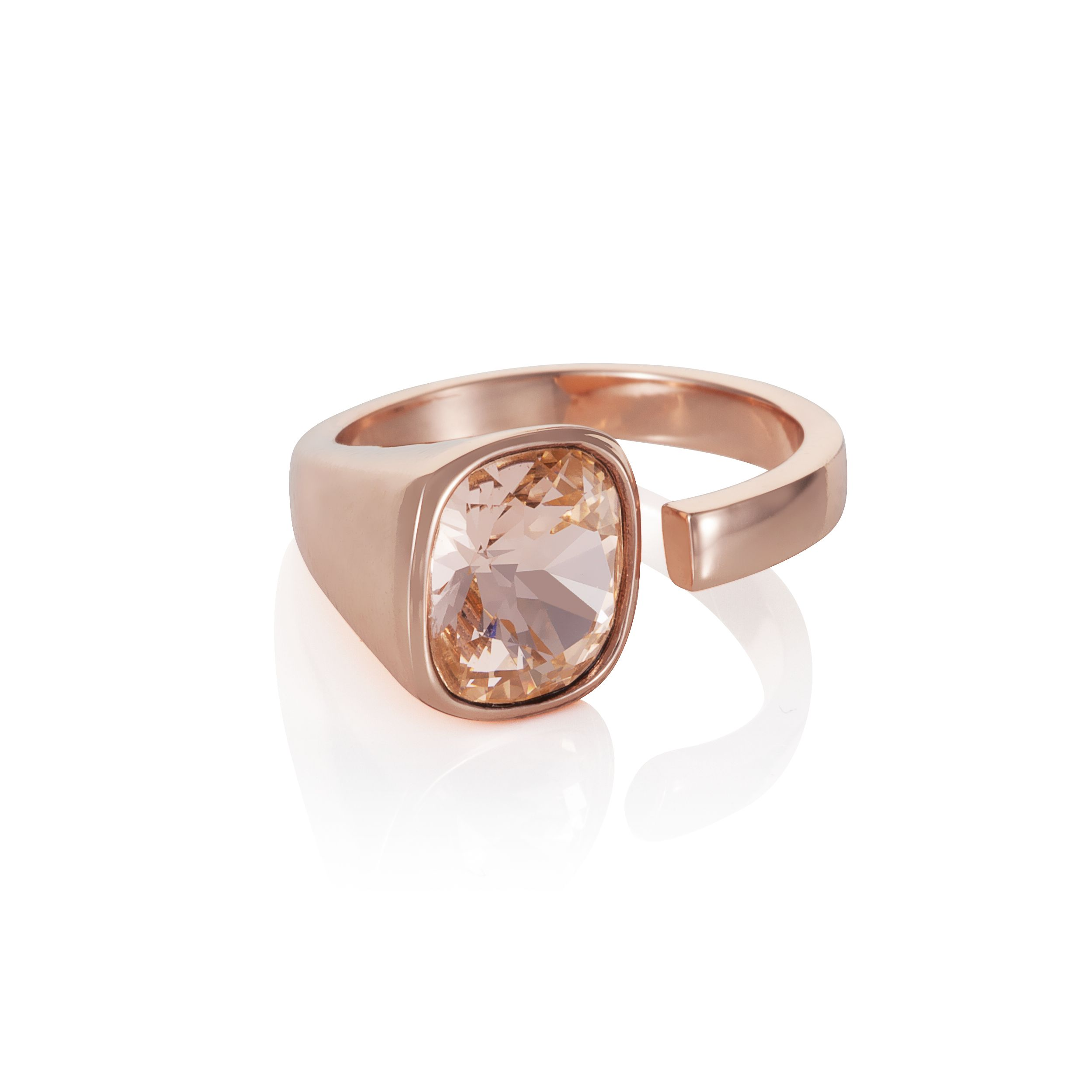 18ct rose gold plated Cut pink Kailua ring