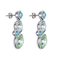 Aurora 18ct white gold plated Kailua earring