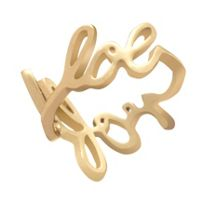 Gold plated scribble ring