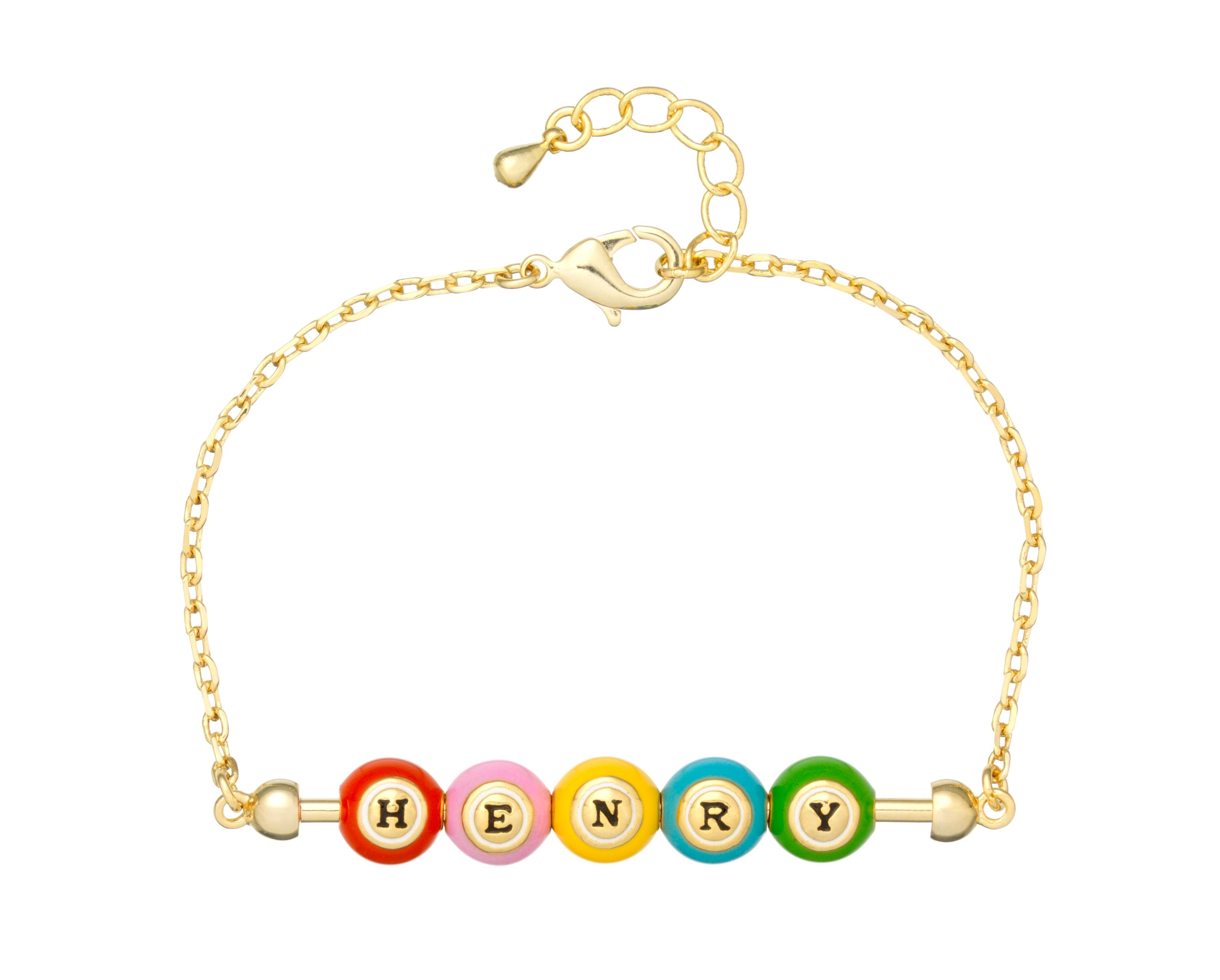 Gold plated 5 bingo ball bar pendant
