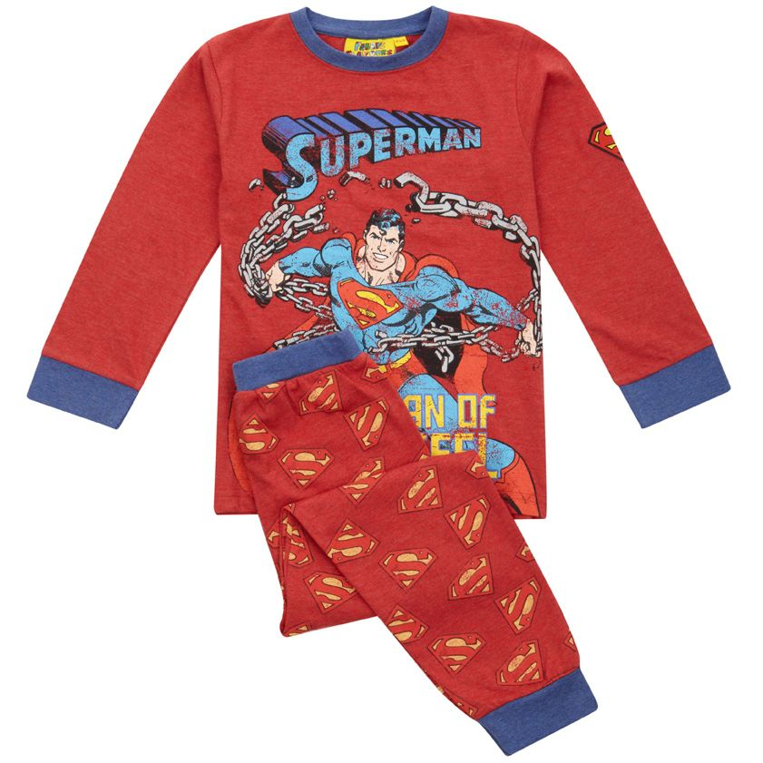Kid`s Superman `Man Of Steel` pyjamas