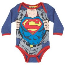 Superman Clark Kent baby all-in-one