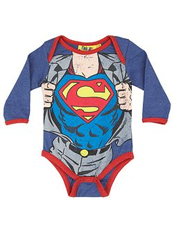 Baby Boys Superman Clark Kent Bodysuit