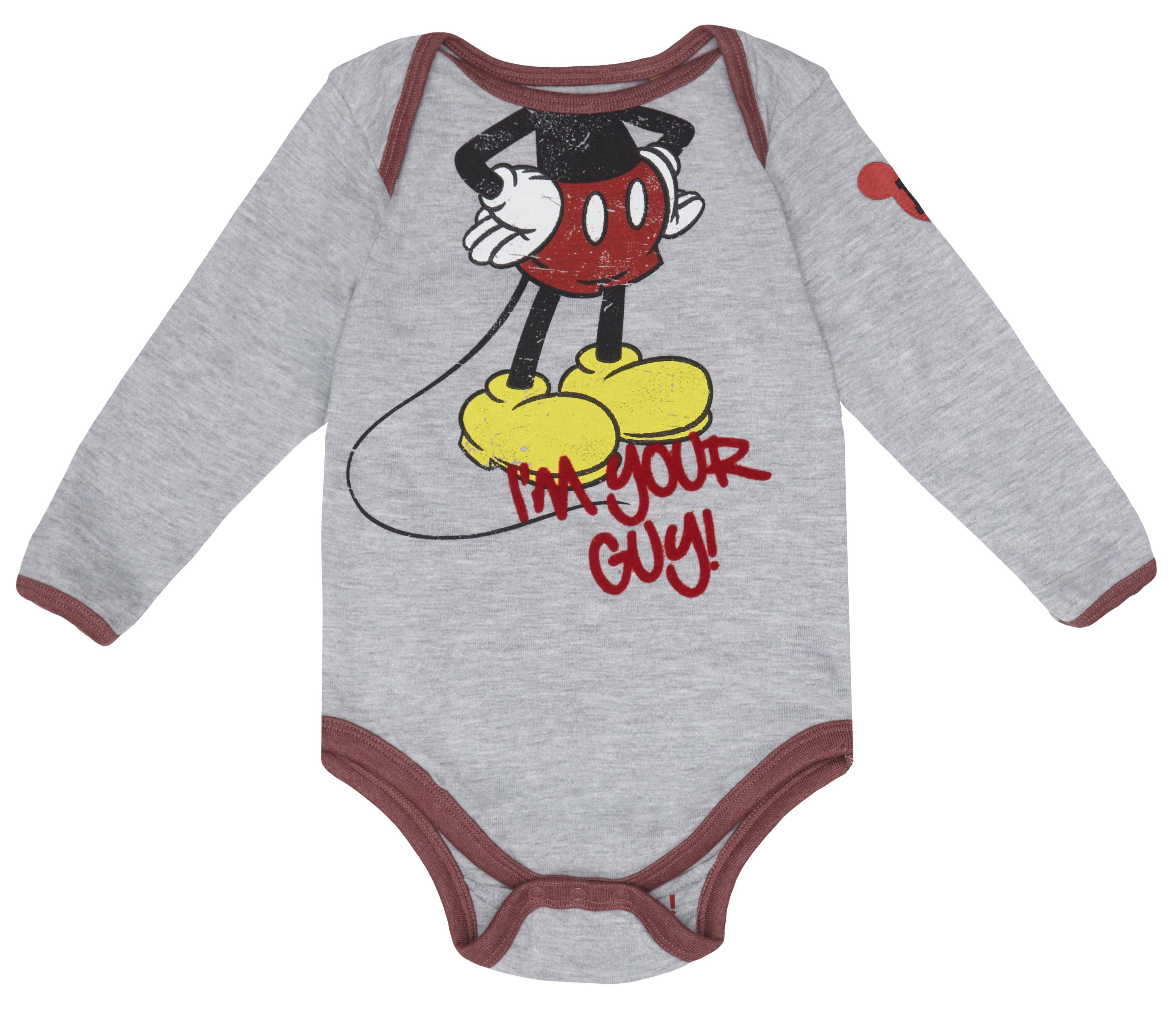 Boy`s Mickey `Headless` babygrow